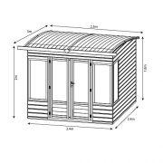 8x8-Shiplap-Wooden-Helios-Garden-Summerhouse-Curved-Roof-Double-Doors-Felt-Included-By-Waltons-0-4
