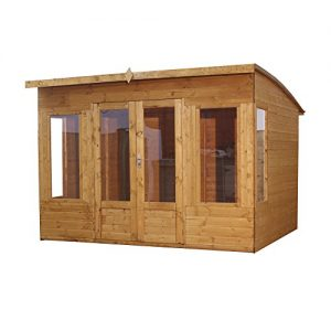 WALTONS-EST-1878-10x8-Wooden-Contemporary-Garden-Summerhouse-Shiplap-Construction-Dip-Treated-with-10-year-guarantee-Includes-Double-Doors-Pent-Roof-Floor-Roof-Felt-and-Styrene-Safety-Windows-10-x-8-1-0