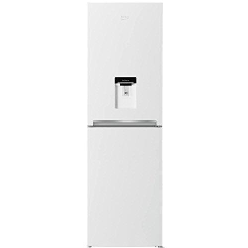 Beko-CFG1582DW-166L-182x55cm-Wide-Freestanding-Fridge-Freezer-With-Water-Dispenser-White-0