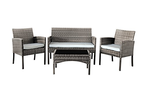 Comfy-Living-Rattan-Garden-Furniture-Set-Patio-Funiture-4-Peice-Set-in-Grey-0