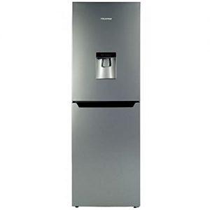 Hisense-RB320D4WG1-Freestanding-Fridge-Freezer-With-Water-Dispenser-Silver-0