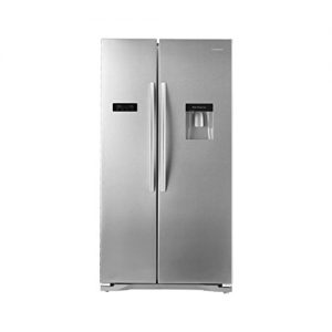 Hisense-Side-By-Side-American-Fridge-Freezer-With-Water-Dispenser-Stainless-Steel-Effect-Doors-RS723N4WC1APD-0