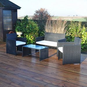 Kingfisher-FSR-4-Piece-Black-Rattan-Effect-Garden-Patio-Furniture-Set-0