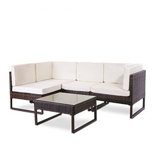 Leisure-Zone-5-PCs8-PCs-Rattan-Corner-Sofa-Set-Sectional-Garden-Sofa-Patio-Sofa-Weatherproof-Outdoor-Garden-Patio-Conservatory-Furniture-Set-with-Coffee-Table-2-Year-Warranty-0