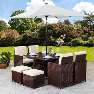 Rattan-Cube-Garden-Furniture-Set-8-seater-outdoor-wicker-9pcs-with-Parasol-0