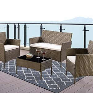 Unmatchable-4-Piece-Garden-Furniture-Set-Conservatory-Patio-Rattan-Outdoor-Table-Chairs-Sofa-5-Colour-Choices-OPTIONAL-Green-Cover-0