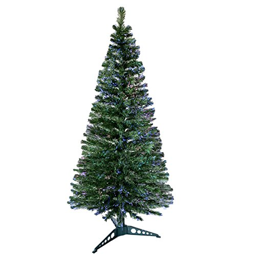 6ft-180cm-Beautiful-Green-Fibre-Optic-Artificial-Indoor-Christmas-Xmas-Tree-New-0