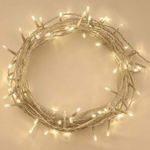 ANSIO-100-LED-Warm-White-Tree-Indoor-and-Outdoor-use-Christmas-String-Memory-Function-Mains-Powered-Fairy-Lights-10m33ft-Lit-Length-Clear-Cable-L-0