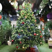 Best-Artificial-Premium-6ft-180cm-Real-Feel-Hinged-Christmas-Tree-with-Over-1100-FULL-PE-Tips-for-Indoor-Xmas-with-5-YEAR-GUARANTEE-0-1