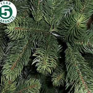 Best-Artificial-Premium-6ft-180cm-Real-Feel-Hinged-Christmas-Tree-with-Over-1100-FULL-PE-Tips-for-Indoor-Xmas-with-5-YEAR-GUARANTEE-0