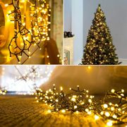 Christmas-Fairy-Lights-300-LED-Warm-White-Tree-Lights-Indoor-and-Outdoor-use-Christmas-String-Lights-Memory-function-Mains-Powered-Fairy-Lights-299m99ft-Lit-Length-with-5m164ft-Lead-Wire-GREEN-CABLE-0-1