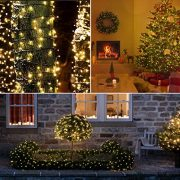 Christmas-Fairy-Lights-300-LED-Warm-White-Tree-Lights-Indoor-and-Outdoor-use-Christmas-String-Lights-Memory-function-Mains-Powered-Fairy-Lights-299m99ft-Lit-Length-with-5m164ft-Lead-Wire-GREEN-CABLE-0-2