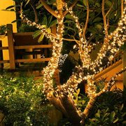 Christmas-Fairy-Lights-300-LED-Warm-White-Tree-Lights-Indoor-and-Outdoor-use-Christmas-String-Lights-Memory-function-Mains-Powered-Fairy-Lights-299m99ft-Lit-Length-with-5m164ft-Lead-Wire-GREEN-CABLE-0-4
