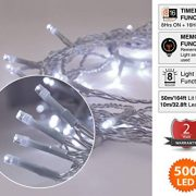 Christmas-Fairy-Lights-500-LED-Bright-White-Tree-Lights-Indoor-and-Outdoor-use-Christmas-String-Lights-Memory-Timer-functions-Mains-Powered-Fairy-Lights-499m164ft-Lit-Length-with-10m33ft-Lead-Wire-CLE-0-0