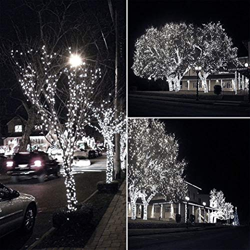 Outdoor String Lights Mains: Christmas Fairy Lights 500 LED Bright White Tree Lights