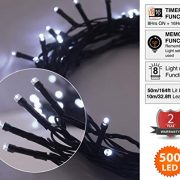 Christmas-Fairy-Lights-500-LED-Bright-White-Tree-Lights-Indoor-and-Outdoor-use-Christmas-String-Lights-Memory-Timer-functions-Mains-Powered-Fairy-Lights-499m164ft-Lit-Length-with-10m33ft-Lead-Wire-GRE-0-0
