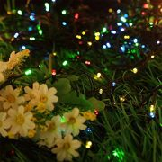 Christmas-Fairy-Lights-500-LED-Multi-Color-Tree-Lights-Indoor-and-Outdoor-use-Christmas-String-Lights-Memory-Timer-functions-Mains-Powered-Fairy-Lights-499m164ft-Lit-Length-with-10m33ft-Lead-Wire-GREE-0-2