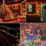 Christmas-Fairy-Lights-500-LED-Multi-Color-Tree-Lights-Indoor-and-Outdoor-use-Christmas-String-Lights-Memory-Timer-functions-Mains-Powered-Fairy-Lights-499m164ft-Lit-Length-with-10m33ft-Lead-Wire-GREE-0-4