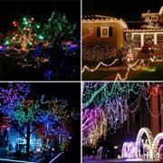 Christmas-Fairy-Lights-500-LED-Multi-Color-Tree-Lights-Indoor-and-Outdoor-use-Christmas-String-Lights-Memory-Timer-functions-Mains-Powered-Fairy-Lights-499m164ft-Lit-Length-with-10m33ft-Lead-Wire-GREE-0-6