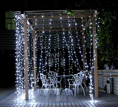 Outdoor String Lights Mains: Christmas Lights 100 LED Bright White Tree Lights Indoor