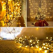 Christmas-Lights-200-LED-Warm-White-Tree-Lights-Indoor-and-Outdoor-use-Christmas-String-Lights-Memory-function-Mains-Powered-Fairy-Lights-199m66ft-Lit-Length-GREEN-CABLE-0-2