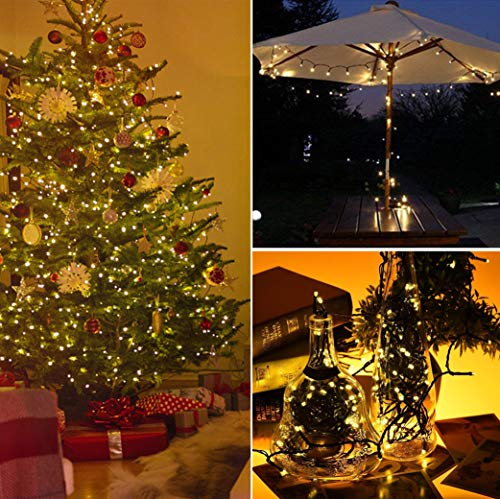 Christmas Lights 200 Led Warm White Tree Lights Indoor And Outdoor Use Christmas String Lights Memory Function Mains Powered Fairy Lights 19 9m 66ft