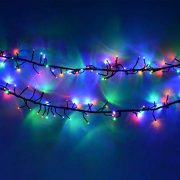 Cluster-Lights-480-LED-Multi-Color-Tree-Lights-Indoor-and-Outdoor-use-Christmas-String-Lights-8-Modes-with-Memory-Timer-function-Mains-Powered-Fairy-Lights-6m196ft-Lit-Length-with-10m33ft-Lead-Wire-GR-0-5
