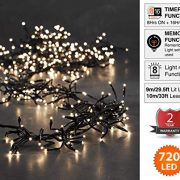 Cluster-Lights-720-LED-Warm-White-Tree-Lights-Indoor-and-Outdoor-use-Christmas-String-Lights-8-Modes-with-Memory-Timer-function-Mains-Powered-Fairy-Lights-9m295ft-Lit-Length-with-10m33ft-Lead-Wire-GRE-0-0