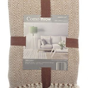 Como-Throw-228-x-254-cm-Large-Sofa-Chair-and-Bed-Decorative-Throwover-Brown-Beige-Stylish-0