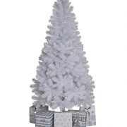 Garden-Mile-Large-Deluxe-Traditional-5ft-Or-6ft-White-Artificial-Pine-Christmas-Tree-Heavy-Duty-Indoor-Or-Outdoor-Xmas-Decoration-Tree-With-400-Tips-And-Sturdy-Metal-Stand-0-0
