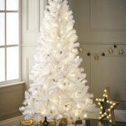 Garden-Mile-Large-Deluxe-Traditional-5ft-Or-6ft-White-Artificial-Pine-Christmas-Tree-Heavy-Duty-Indoor-Or-Outdoor-Xmas-Decoration-Tree-With-400-Tips-And-Sturdy-Metal-Stand-0-2