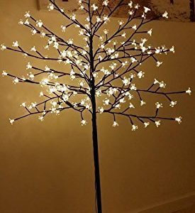 Garden-Mile-New-6ft-18m-Pre-Lit-with-240-Warm-White-LED-lights-Cherry-Blossom-Tree-Christmas-xmas-Tree-suitable-for-indoor-or-outdoor-use-0