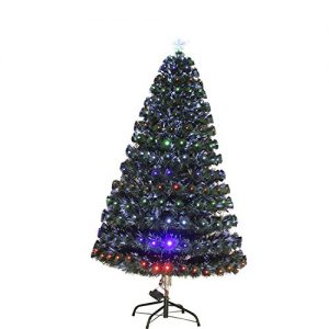 HOMCOM-3ft-4ft-5ft-Green-Fibre-Optic-Artificial-Christmas-Tree-Indoor-Xmas-Tree-Multi-colour-LED-0