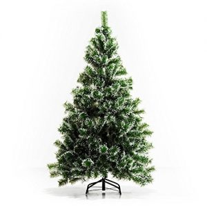 HOMCOM-Indoor-Christmas-Tree-Artificial-Decoration-Xmas-Gift-with-Metal-Stand-416-Tips-0