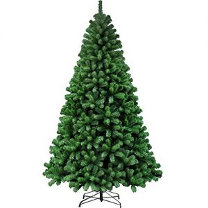 Simpa-7FT-21M-Classic-Artificial-Realistic-Natural-Thick-Branches-Pine-Delux-Christmas-Tree-Xmas-Green-3-Section-Hinged-Branches-Metal-Stand-0