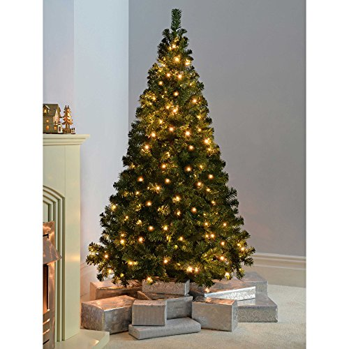Artificial Christmas Trees Amazon Uk: WeRChristmas Spruce Pre-Lit Multi-Function Christmas Tree
