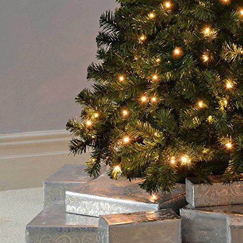 WeRChristmas Spruce Pre-Lit Multi-Function Christmas Tree Warm White LED Lights/ 8 Setting ...