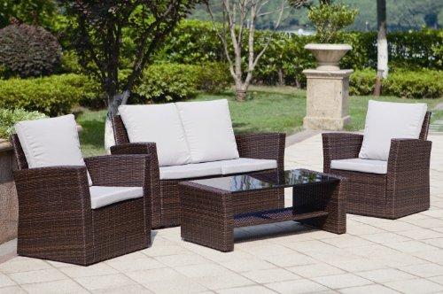 Abreo Rattan Wicker Weave Garden Furniture Patio