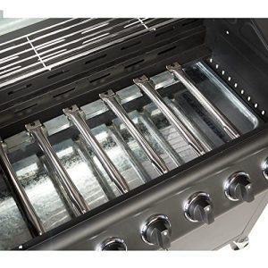 CosmoGrill-61-Deluxe-Gas-Burner-Grill-BBQ-Barbecue-incl-Side-Burner-Black-77-x-42cm-0-0