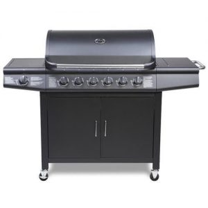 CosmoGrill-61-Deluxe-Gas-Burner-Grill-BBQ-Barbecue-incl-Side-Burner-Black-77-x-42cm-0
