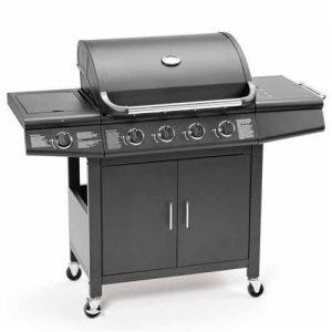 CosmoGrill-Deluxe-41-Gas-Burner-Grill-BBQ-Barbecue-incl-Side-Burner-Black-61-x-42cm-93411-0