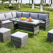 Leisure-Zone-9-Seater-Rattan-Garden-Furniture-Set-Corner-Sofa-Patio-Conservatory-Indoor-Outdoor-7-pieces-set-table-chair-sofa-10-years-warranty-0-5