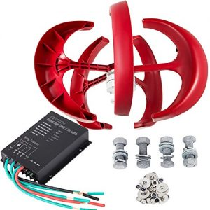 FORAVER-300W-DC-24V-Wind-Turbine-Generator-Kit-5-Blades-Vertical-Wind-Power-Turbine-Generator-Red-Lantern-with-Charge-Controller-for-Power-Supplementation-0