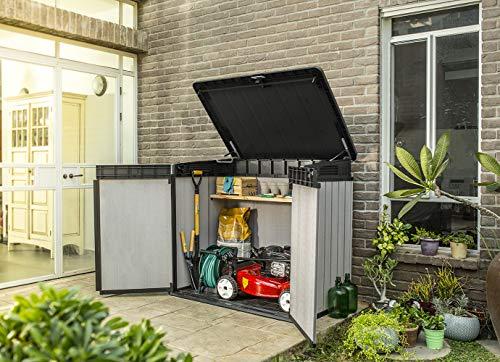 Keter 236905 Elite Outdoor Storage Shed, Grey/Black ... on Elite Outdoor Buildings id=24308