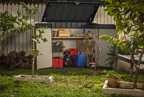 Keter 236905 Elite Outdoor Storage Shed, Grey/Black ... on Elite Outdoor Buildings id=16044